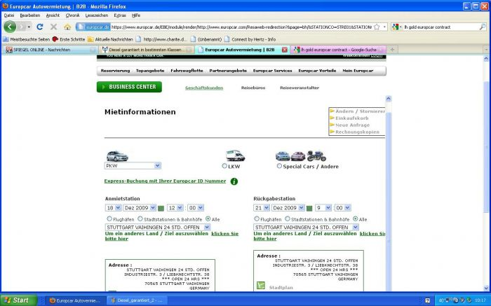 Europcar garantiert Diesel