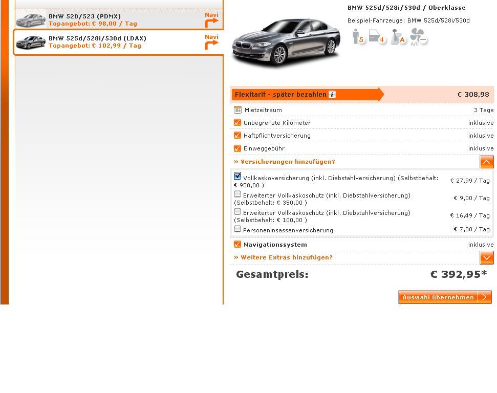 """Sixt """"Aktion"""" 5er BMW"""