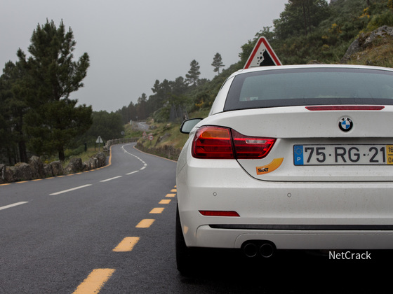 BMW 420d in der Serra da Estrela
