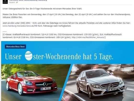 Oster Weekend Benz