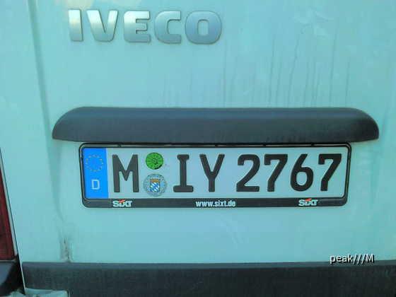 M-IY, Sixt Kennzeichenkreis 15.10. Würzburg