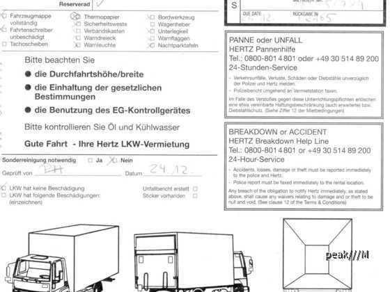 Hertz-LKW-Protokoll