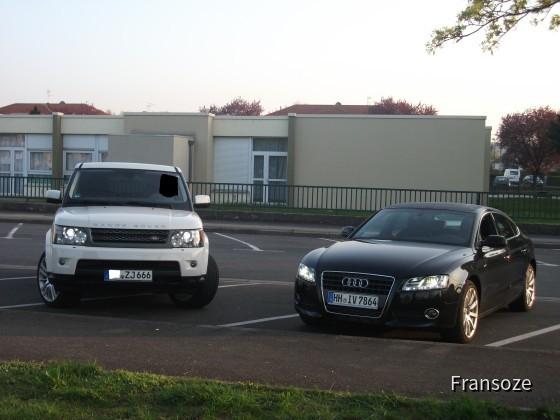 Range rover mit Audi A5 sportback 2.0 TDI s-line PZAR
