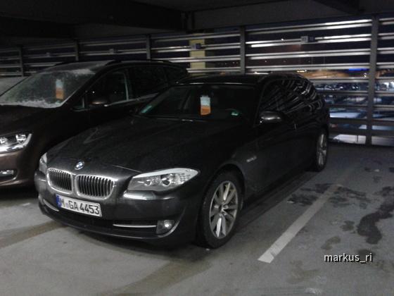 BMW 520dA Touring  @ Sixt LEJ 03.02.12