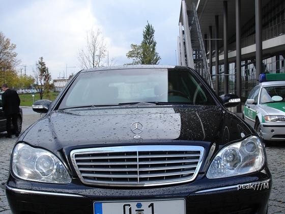 29.10.2006, Fahrzeug vom Bundespräsidenten