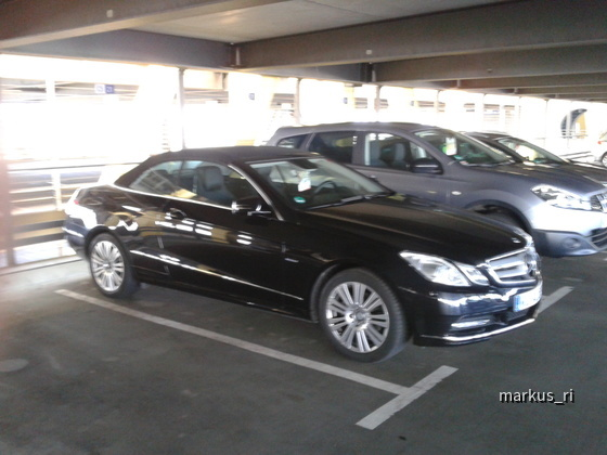 Mercedes E200 CGI Cabrio AUT @ AVIS LEJ 05.11.
