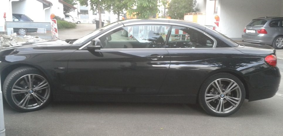 BMW 420D Reifenpanne