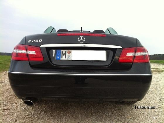 Mercedes Benz E200 Cabrio Heck