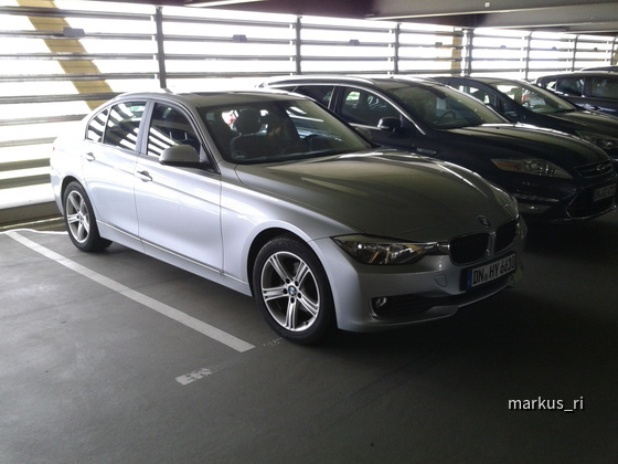 BMW 316dA F30 @ Hertz LEJ 14.07.2012