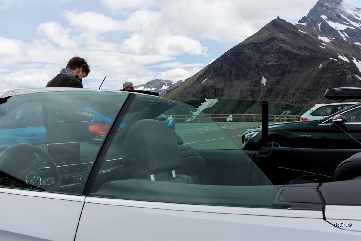 Audi S5 mit offenem Dach