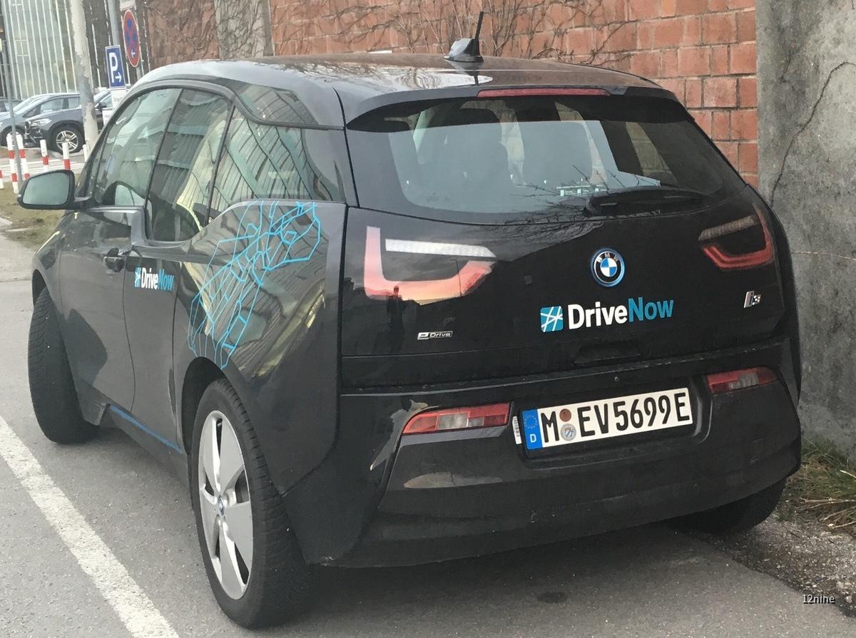 DriveNow i3 E-Kennzeichen