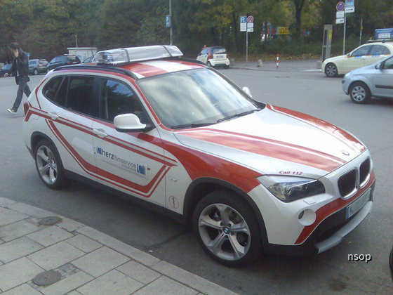 BMW X1 Notarzt