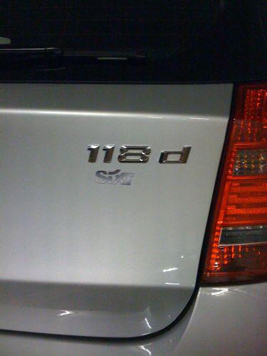 BMW 118d Sixt/Europcar?