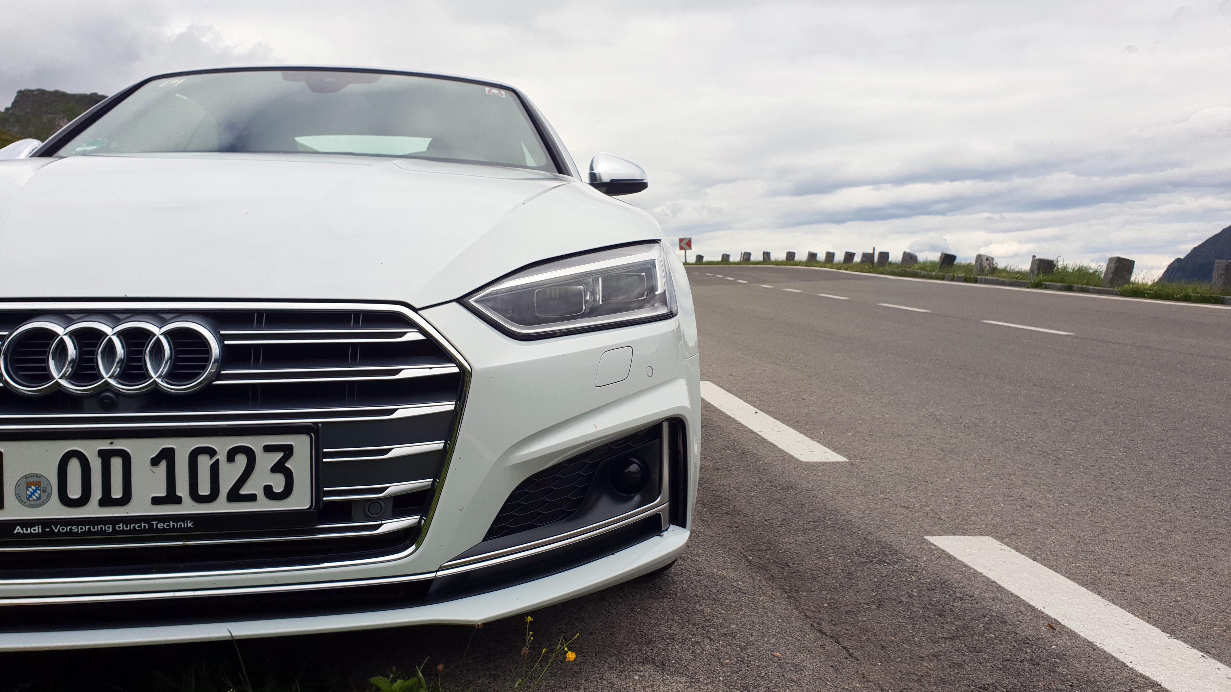 Audi S5 an der Großglocknerhochalpenstraße Mietwagen Talk Das