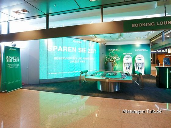 Booking-Lounge Europcar - Flughafen Hamburg