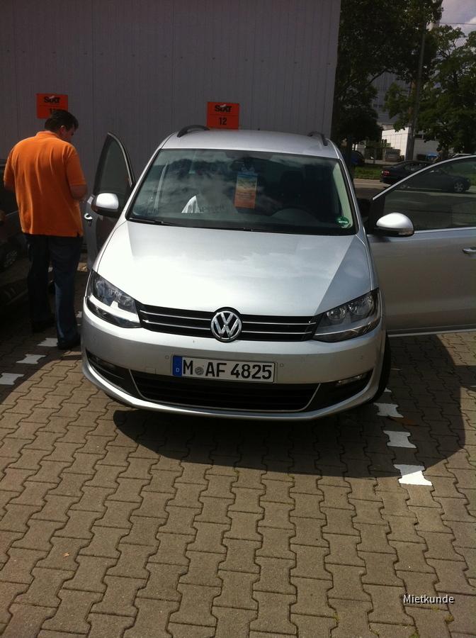Sixt Mannheim VW Sharan 09.-16.07.2012