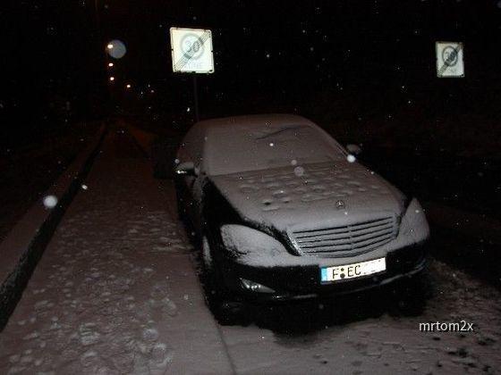 Mercedes S350 L im Schnee