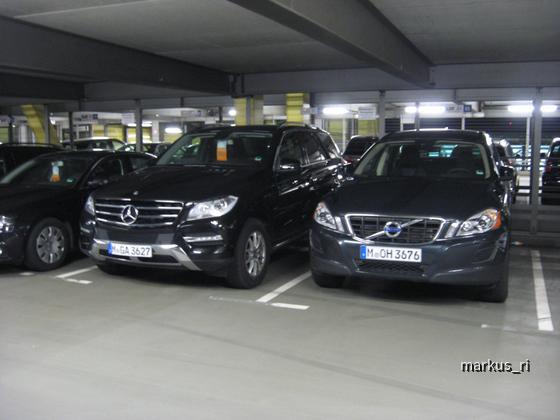 Mercedes ML350 + Volvo XC60, SIXT LEJ 06.01.12