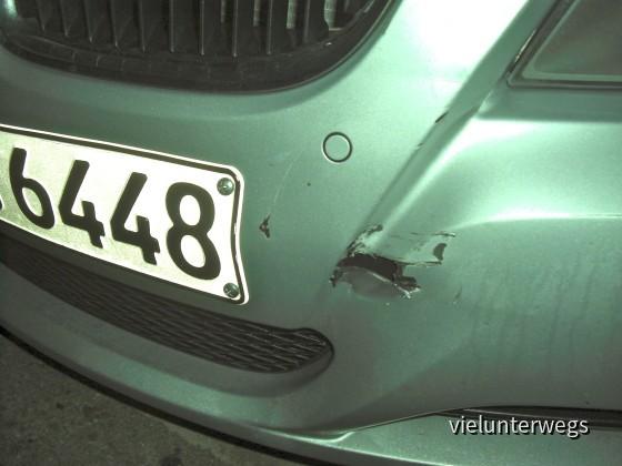 Auffahrunfall mit BMW 118i Sixt