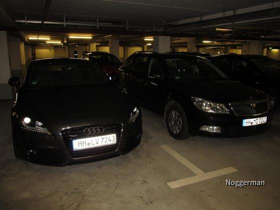 Audi TT Cabrio und Skoda Superb Kombi