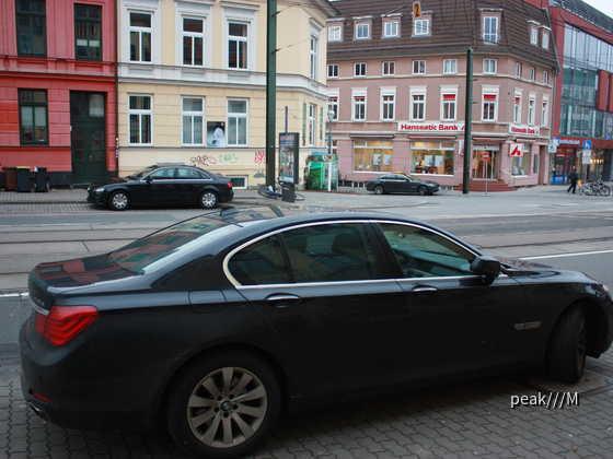 2x 740d von Sixt, Rostock 27.12.