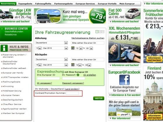 Lufthansa bei Europcar