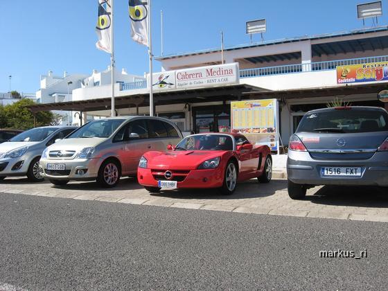Opel Speedster, Cabrera Medina, Puerto del Carmen (Lanzarote)