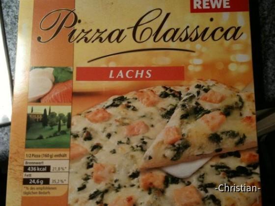 Lachs Pizza