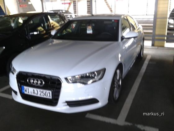 Audi A6 3.0 TDI quattro (245PS) @ AVIS LEJ 14.07.2012