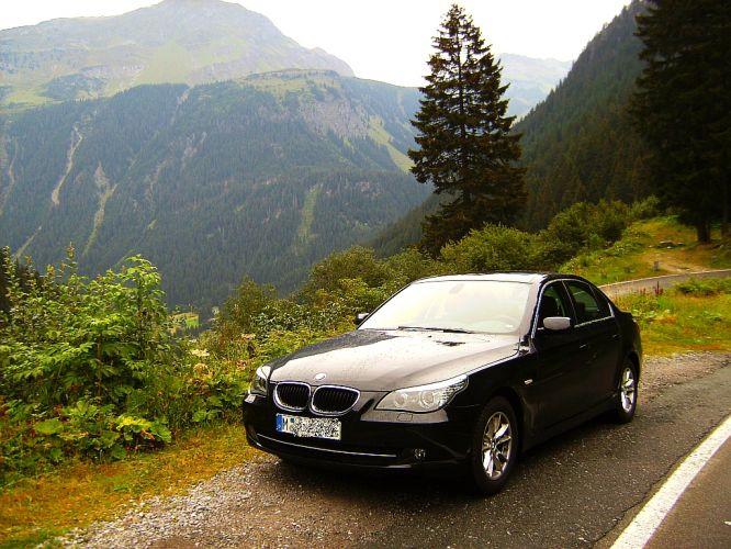...mit dem 520d durch die Alpen...