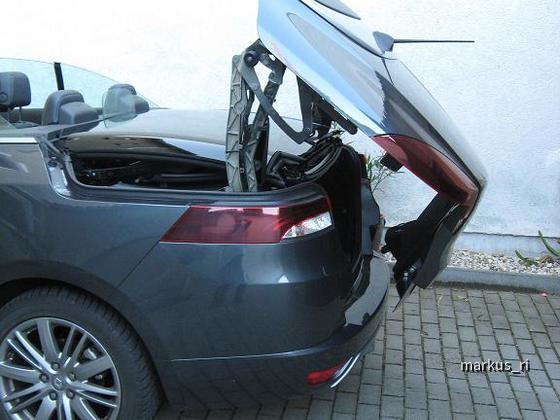 Renault Megane CC - Kofferraumklappe beim öffnen des Dachs