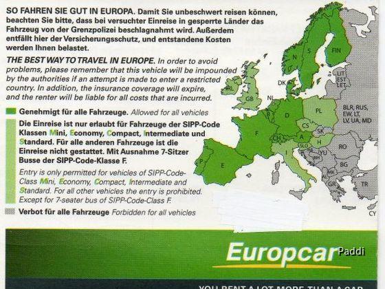 Europcar Landkarte