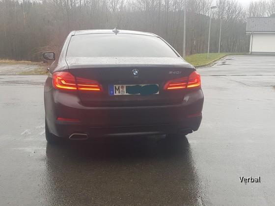 BMW 540i Sixt von hinten