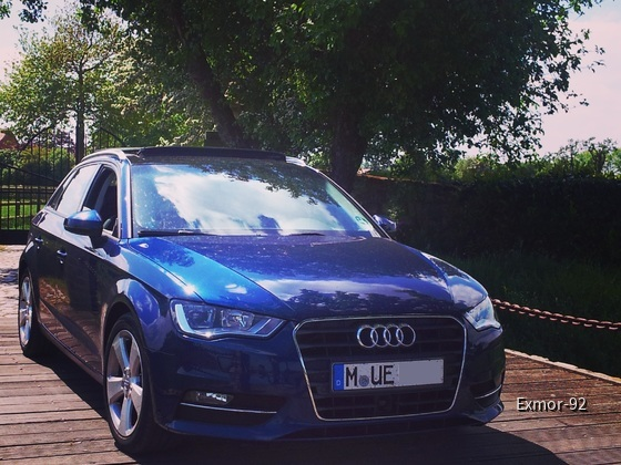 Audi A3 Sportback Blau