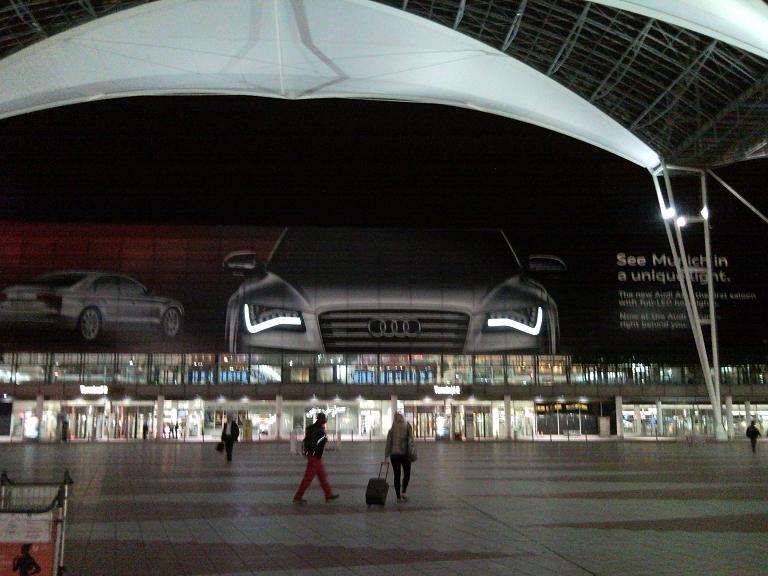 Audi Werbung am MUC