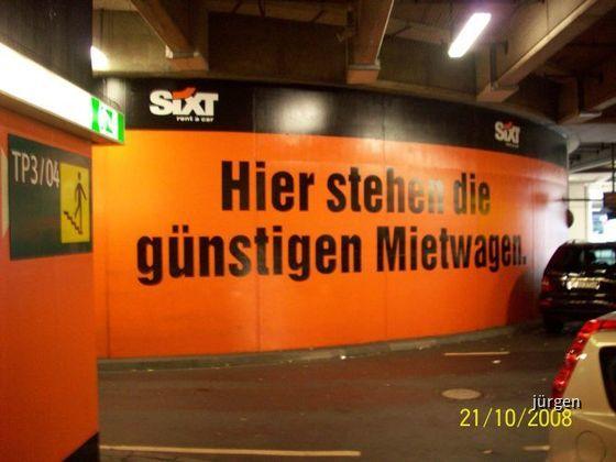 Sixt Werbung Airport Düsseldorf Parkhaus (Flughafen DUS)