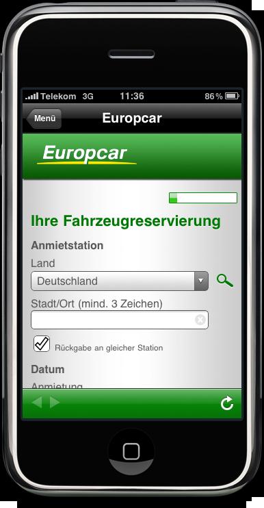 Europcar Applikation