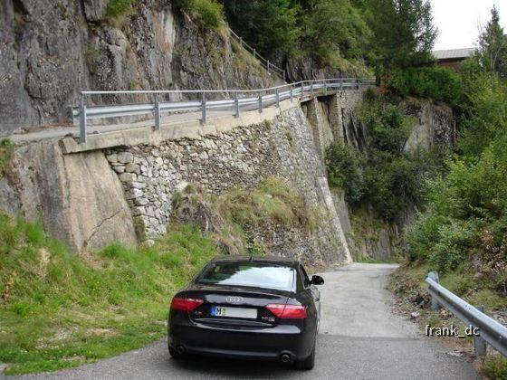 Audi A5, im Wallis