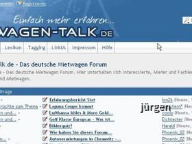 Screenshot Mietwagen-Talk