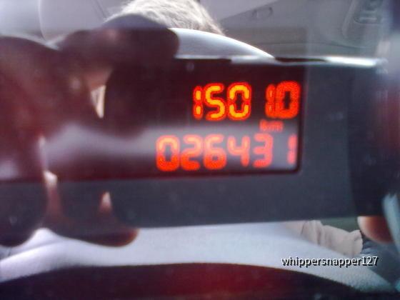 Odometer kurz vor Abgabe