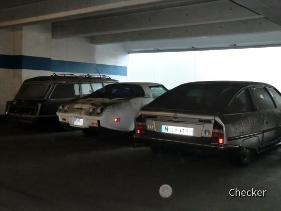 Oldtimer in einem Nürnberger Parkhaus
