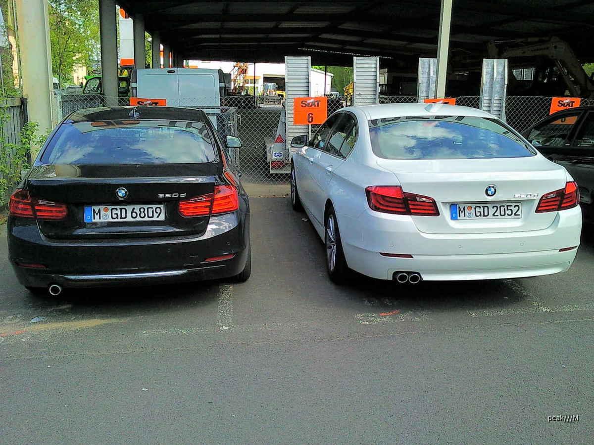 320d und 520d von Sixt Würzburg, 8.5.