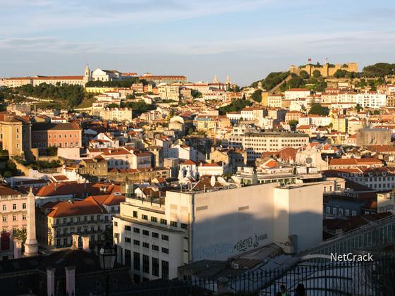 Lissabon Altstadt vom Miradouro de São Pedro de Alcântara