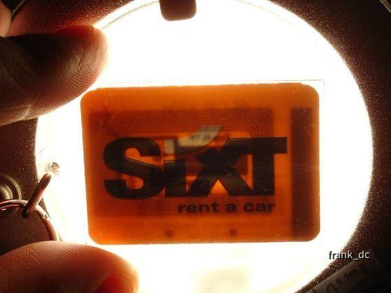 Sixt: RFID-Chip im Schlüsselanhänger