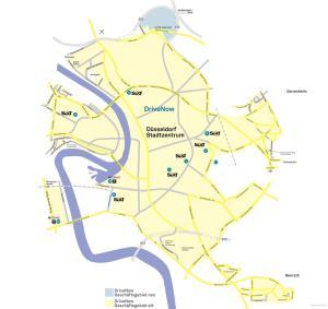 Geschäftsgebiet DriveNow Düsseldorf