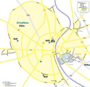 Geschäftsgebiet DriveNow Köln