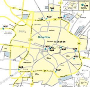 Geschäftsgebiet DriveNow München